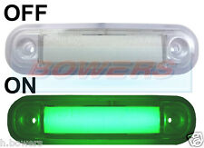 12V/24V SURFACE/BAR MOUNT GREEN LED MARKER LAMP / LIGHT TRUCK VAN CAR KELSA BAR