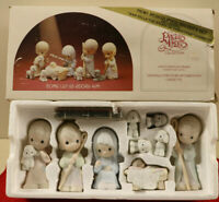 "Precious Moments Christmas Nativity Figure  9 Pc. Set "" Come Let Us Adore Him """