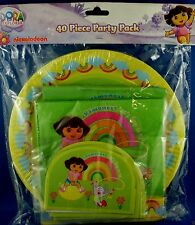 Nickelodeon DORA The Explorer 40 Pc PARTY PACK Napkins Plates Hats Loot Bags NEW