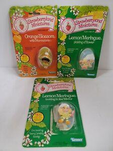 Kenner Strawberry Shortcake Miniatures Orange Blossom And Lemon Meringue