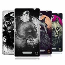 Case Designs Gatos de Goth HEAD Gel Suave Estuche Para SONY teléfonos 3