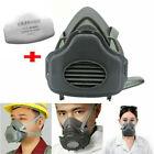 Half Face Gas Mask Painting Spraying Working Protect Facepiece Respirator Filter