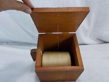 Primitive Handmade Wooden String Dispenser Antique Old Vintage Wood Box Crafted