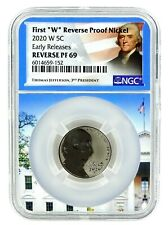 2020 W Jefferson Reverse Proof Nickel NGC PF69 - Early Releases - White House