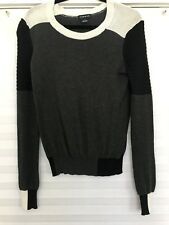 TROUVE - Charcoal   Multi Color Moto Styled Long Sleeve Sweater - Size Small 95b434ea9