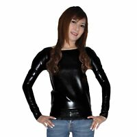 Brand New Latex Rubber Black Long Sleeve Shirt (one size)