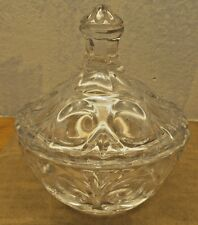 small vintage crystal  candy bowl with lid