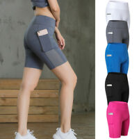 Women's Pro Workout Sports Shorts with Pocket Spandex Running Gym Active Wear