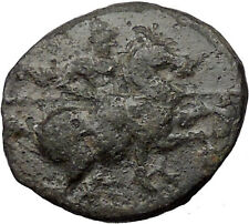 MAGNESIA ad MAENDRUM 350BC Warrior Horseman Bull Ancient Greek Coin i31773