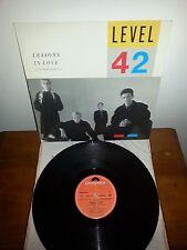LP 33 GIRI DISCO LESONS IN LOVE  LEVEL 42 1986