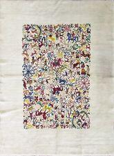"5'11"" x 7'10"" Hunting design Vintage, Ecuadorian Animal Carpet, #16015"