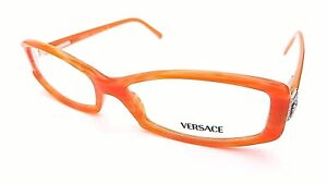 VERSACE DESIGNER FRAMES IN ORANGE 3040 451 - WITH CASE - NEW & UNDER £100 !