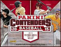 2015 Contenders Baseball Complete Your Set Pick 25 Cards From List *Insert Sets