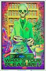 What's Your Pleasure Zombie Blacklight Poster 23 x 35