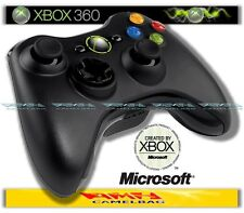 ORIGINALE MICROSOFT WIRELESS GAMEPAD CONTROLLER PAD NERO XBOX 360 NUOVO