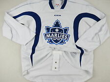 Practice Worn CCM Toronto Marlies AHL Pro Stock Hockey Player Jersey 58 White