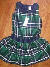 NWT Gymboree Plaid Blue Dress Size 7 Girls Holiday Xmas