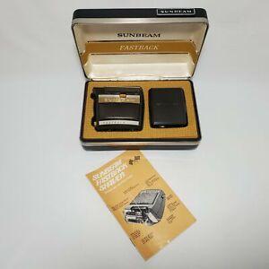 Vtg Sunbeam Fastback 727 Electric Shaver Trimmer Cord Original Case