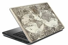 """Map Laptop Skin Notebook Skin Sticker Cover Art Decal Fits 14.1"""" to 15.6""""6a"""