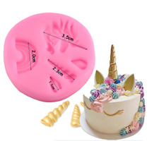 NEW  UNICORN  MINI THEME SILICONE MOULD (1)