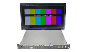 Harris Videotek VTM-4100 PKG-E Waveform Monitor Opt HD EYE-2 VTM-A3-OPT-3