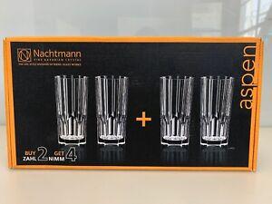Nachtmann Aspen Crystal Long Drink Glasses, Set of 4