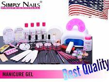 Simply Nails Gel Starter Set  Uv Lamp Manicure Tips Kit 15ml Nail File  34 Art
