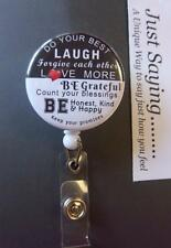 DO YOUR BEST (Inspirational Thoughts) Blk/White Retractable Reel ID Badge Holder