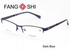 Glasses Eyewear for Men Eyeglasses Frame Halfrim Dark Blue Alloy Titanium RX Le