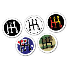 5 Pack Of Speed Gear Knob Shifter Aussie Stickers Decal 4x4 4WD #6877EN