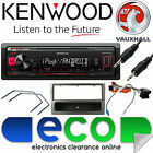 Vauxhall Corsa C KENWOOD Car Stereo Radio Mechless MP3 AUX Player Kit Grey