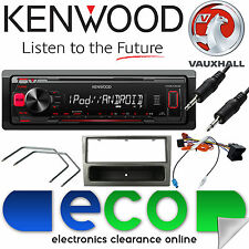 Vauxhall Corsa C KENWOOD Car Stereo Radio Mechless MP3 AUX Player Kit Grey