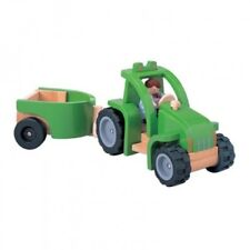Plan Toys Wooden Tractor & Trailer