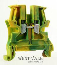 Legrand Viking - 0371 71 - Green/Yellow 4mm DIN Rail Mounted Termination Block