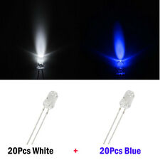 40) White+Blue 5mm Mini Led for GMC Chevy Instrument Cluster Gauge Panel Light