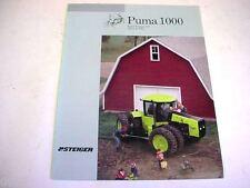 Steiger Puma 1000 Tractor Brochure