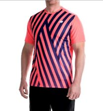 NWT Men New Balance Active Running Top Shirt Short Sleeves Multicolor XL Drifit