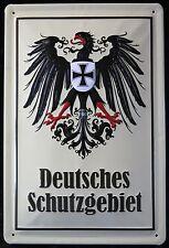 DEUTSCHES SCHUTZGEBIET, BLECHSCHILD REICHSADLER