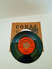 Les Brown 45 RPM Vinyl Coral Records Ruby and Midnight Sun Fox Trot Music 1950s