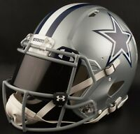 ***CUSTOM*** DALLAS COWBOYS Full Size NFL Riddell SPEED Football Helmet