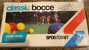 Sportcraft Classic Bocce Ball Set Vintage With Box Complete ITALY