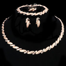 Fashion Women Gold/Plated Necklace Bracelet Earring Ring Jewelry Sets