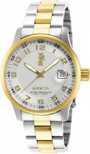 Invicta Unisex I-force Quartz Watch With Silver Dial Analogue Display and Multicolour Gold Plated Bracelet 15260