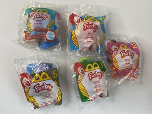 McDonalds 2000 Furby Soft Keychain Lot of 5 Different Vintage NOS