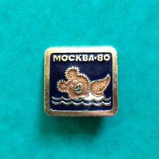 PIN BADGE BROOCH MISHKA Moscow Olympic Games 1980 MASCOTTE RUS VINTAGE NATATION