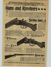 1897 PAPER AD 4 PG Sterling Semi-Machine Gun Rifle 12 Gauge Marlin New American