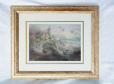 """Nicky Boehme """"Charming Tranquility"""" Signed Print-Framed-Matted 20""""x23"""""""