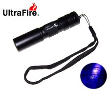 New Ultrafire C3 UV Led Flashlight Ultraviolet Detector Cheque ( 365nm, AA )