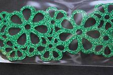 ITALY Faux LEATHER CUT OUT BRACELET PEARL Floral Metal snap BRACCIALE PELLE