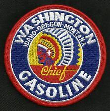 VINTAGE STYLE WASHINGTON GASOLINE CHIEF HOT ROD ROCKABILLY GREASER BIKER PATCH